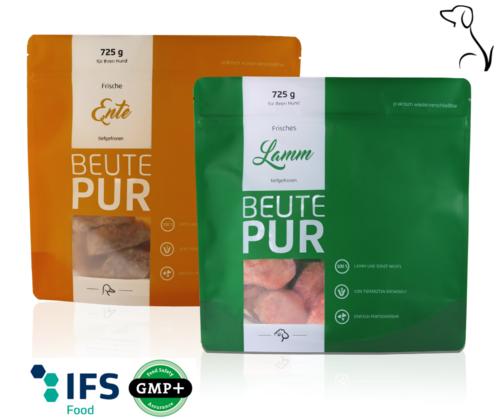 Frostpaket BEUTE PUR Lamm + Ente 'meatmix' (Standardpaket)