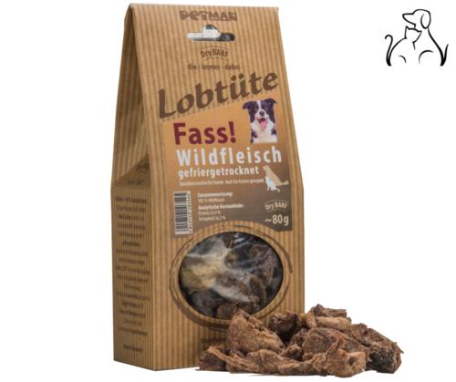 """Lobtüte Wildfleisch """"Fass!"""" 100% Fleisch"""