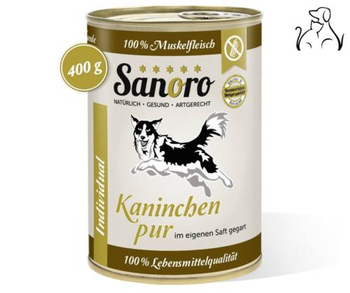 Sanoro 100% Muskelfleischl Kaninchen mit Knorpel
